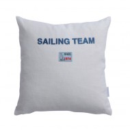 Annette Frank Sailing Kissen 30x30cm Leinen weiss