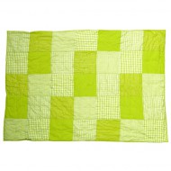 Taftan Tagesdecke Patchwork limegrün in zwei Größen