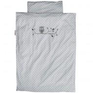 Bettwäsche grau gemustert mit Eule von Taftan in 2 Größen