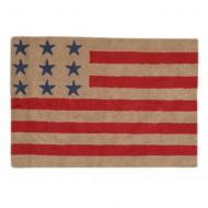 Teppich waschbar amerikanische Flagge in leinen-rot 120x160cm