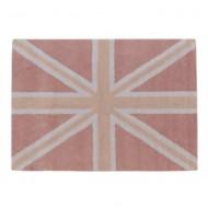 Teppich waschbar England-Flagge in rosa 120x160cm