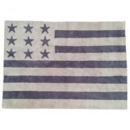Teppich waschbar amerikanische Flagge in grau 120x160cm