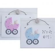 "Freya Design Türschild hellblau ""It's a boy"" oder rosa ""It's a girl"""