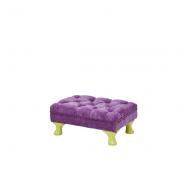 Rice Kinder-Sitzpouff in pink mit gelben Füßen