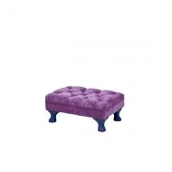 Rice Kinder-Sitzpouff in pink mit blauen Füßen