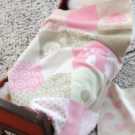 David Fussenegger Babydecke in rosa-beige 70x90cm