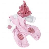 Stampelanzug mit Shirt und Mütze für Puppen 30-33cm