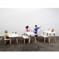 Pure Position Growing Table 65x120cm – der Kindertisch, der mitwächst in weiß