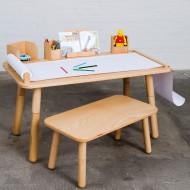 Pure Position Growing Table 65x120cm – der Kindertisch, der mitwächst in natur