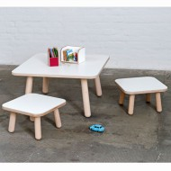 Pure Position Growing Table 80x80cm – der Kindertisch, der mitwächst in weiß