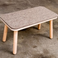 Pure Position Filzauflage für die Sitzbank des Growing Table 42x80cm