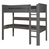 Bopita Mix&Match Combiflex Hochbett XL deep grey 90x200cm mit gerader Treppe - Schreibtischplatte optional