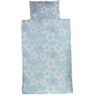 Ingegerd Bettwäsche 100x135cm/40x60cm Blumen blau