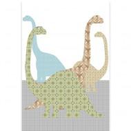 Inke XL Wandbild Dinosaurier grün-blau-braun 200x300cm