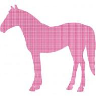 Tapetenpferd in pink-rot kariert