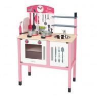 Janod hochwertige Kinderküche in pink-weiß mit Macke