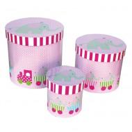 Jabadabado Aufbewahrungsboxen-Set rosa mit Elefant