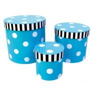 Jabadabado Aufbewahrungsboxen-Set türkis mit weißen Punkten