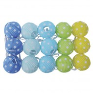 Jabadabado Lichterkette Lampions blau-grün-gelb