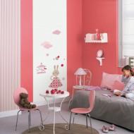 Jules&Julie Wandbild Häschen rosa-rot