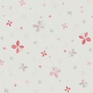 Jules&Julie Tapete Schmetterlinge in rosa-rot-grau