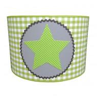 Juul Design Lampenschirm grün-grau mit großem Stern Ø 35cm
