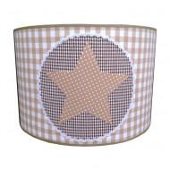 Juul Design Lampenschirm braun-beige mit großem Stern Ø 35cm