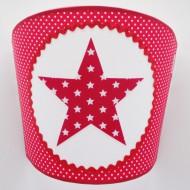 Juul Design Wandlampe Stern in rot