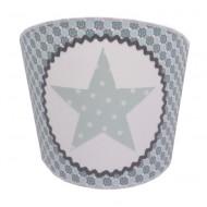 Juul Design Wandlampe Stern in blau-grau