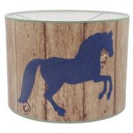 Juul Design Lampenschirm Holzoptik mit Pferd Ø 35cm