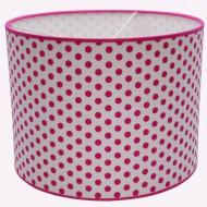 Juul Design Lampenschirm weiß mit großen Punkten in pink Ø 35cm