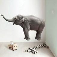 KEK Amsterdam Wandsticker Safari Friends Elefant XL 163cm
