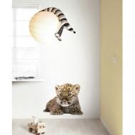 KEK Amsterdam Wandsticker Safari Friends Leopard XL 73cm