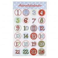 Krima&Isa Sticker für Adventskalender Zahlen