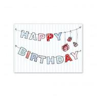 Postkarte Girlande Happy Birthday von Krima&Isa