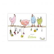 Postkarte Hühner von Krima&Isa