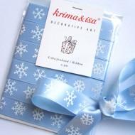 Schleifenband hellblau mit Schneeflocken von Krima&Isa