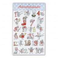 Krima&Isa Sticker für Adventskalender Mäuse