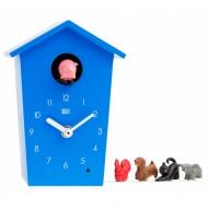 Kookoo Animalhouse blau - die etwas andere Kuckucksuhr