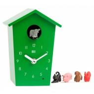 Kookoo Animalhouse grün - die etwas andere Kuckucksuhr