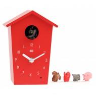 Kookoo Animalhouse rot - die etwas andere Kuckucksuhr