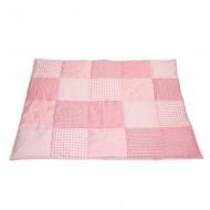 Taftan Krabbeldecke bzw. Laufstalleinlage in rosa