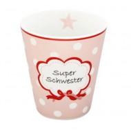 Krasilnikoff Happy Mug Super Schwester