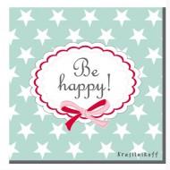 Krasilnikoff Papierservietten Be Happy