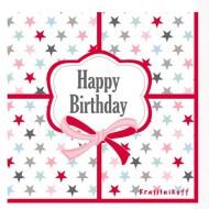 Krasilnikoff Papierservietten Happy Birthday