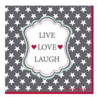 Krasilnikoff Papierservietten Live Love Laugh