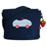 la fraise rouge Kindergartentasche Auto in dunkelblau mit Name möglich mit Name möglich