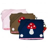 la fraise rouge Kindergartentasche/-rucksack Pilz in 3 Farben mit Name möglich