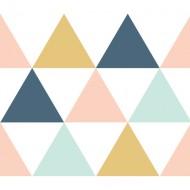 """Lilipinso Bordüre selbstklebend """"Dreiecke"""" 8,5x410cm rosa-grau-senfgelb"""