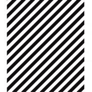 """Lilipinso Bordüre selbstklebend """"Streifen diagonal"""" 8,5x410cm schwarz"""